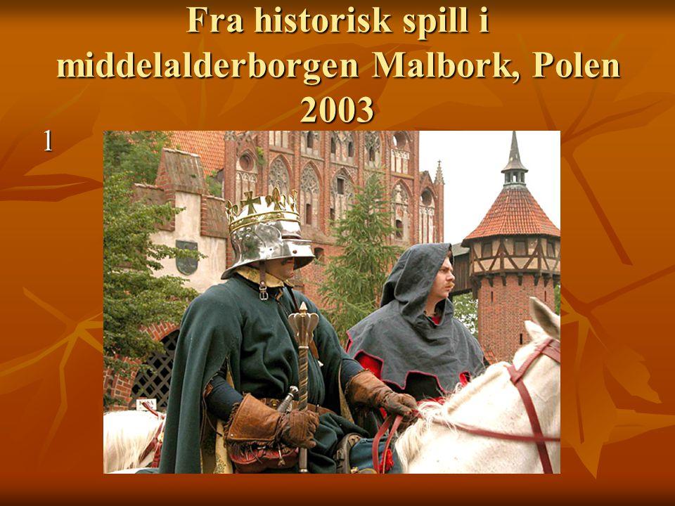 Fra historisk spill i middelalderborgen Malbork, Polen 2003 1