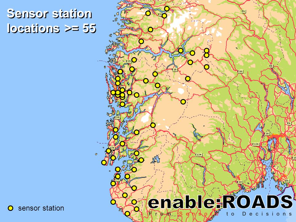 sensor station Sensor station locations >= 55