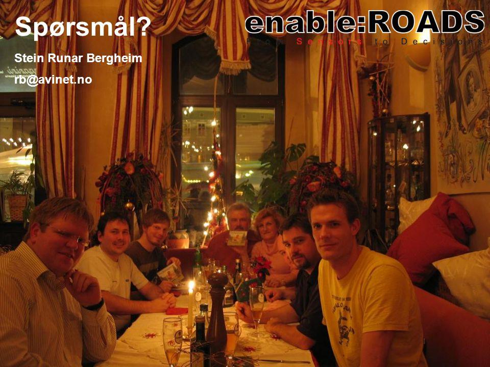 Spørsmål? Stein Runar Bergheim rb@avinet.no