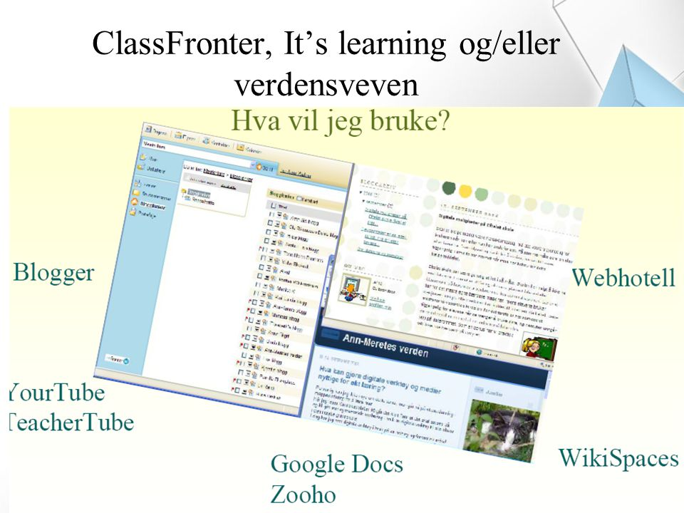ClassFronter, It's learning og/eller verdensveven
