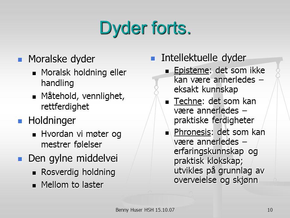 Benny Huser HSH 15.10.0710 Dyder forts.