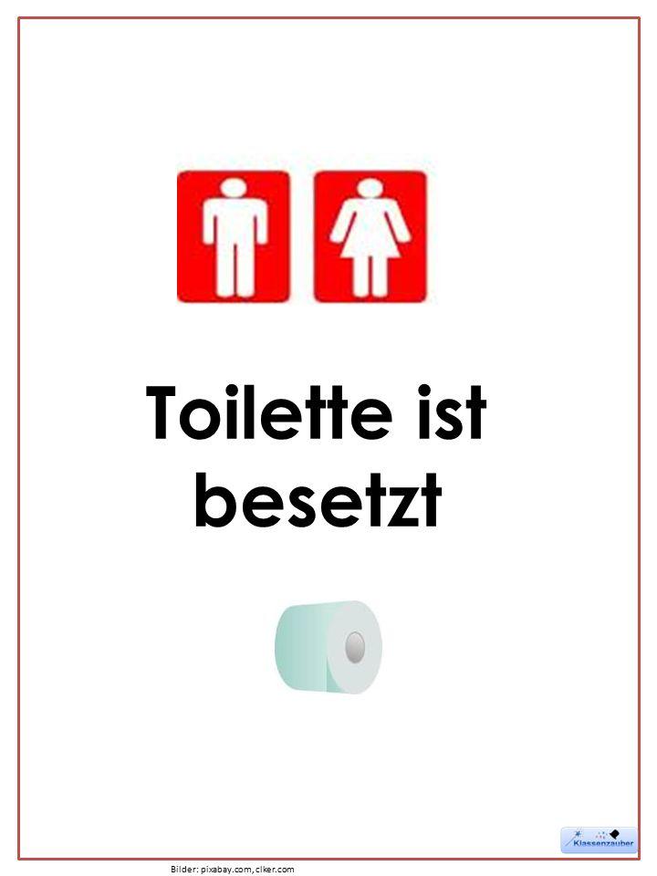 Toilette ist besetzt Bilder: pixabay.com, clker.com