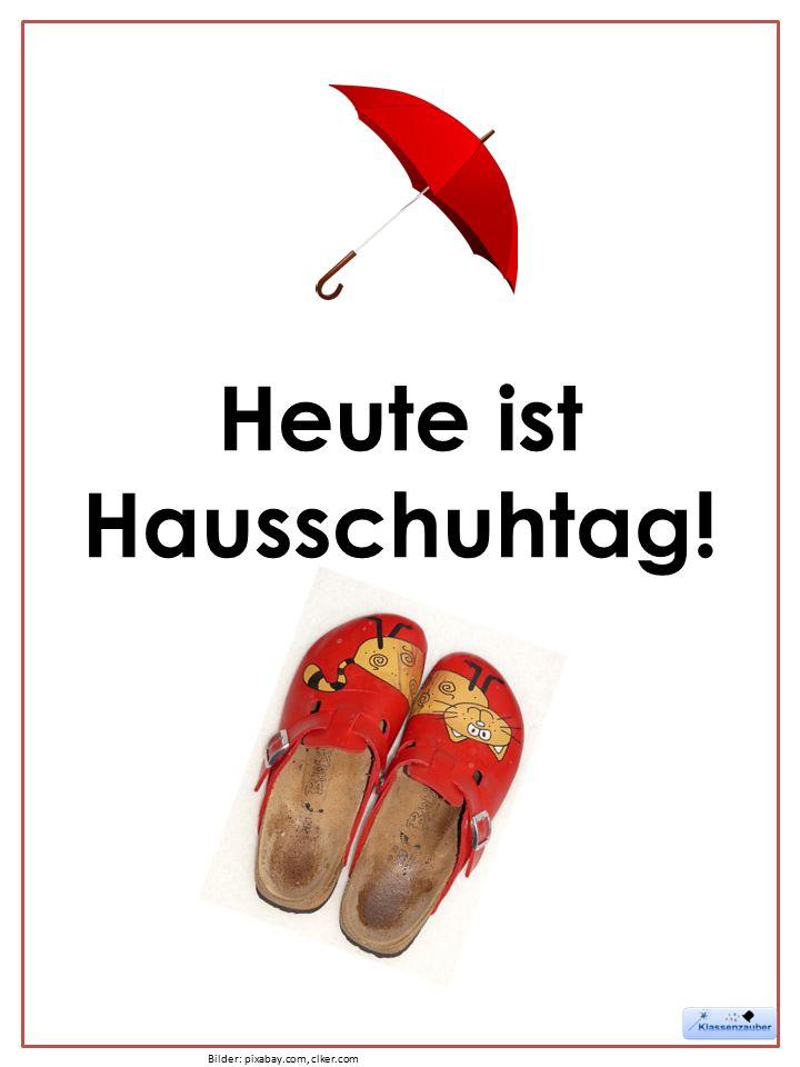 Heute ist Hausschuhtag! Bilder: pixabay.com, clker.com