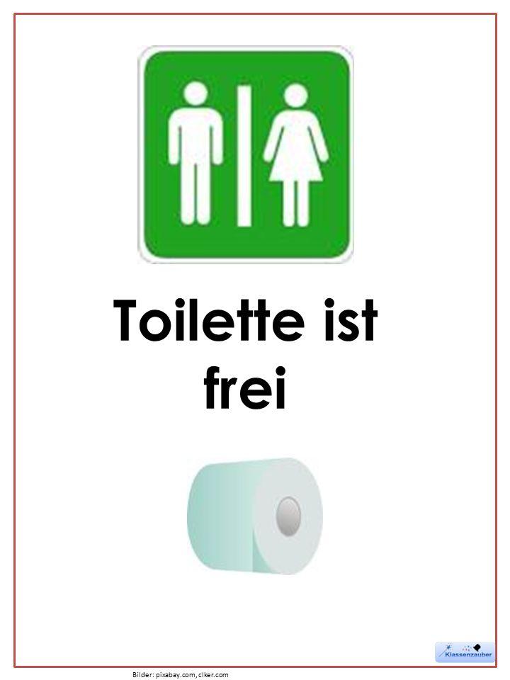 Toilette ist frei Bilder: pixabay.com, clker.com
