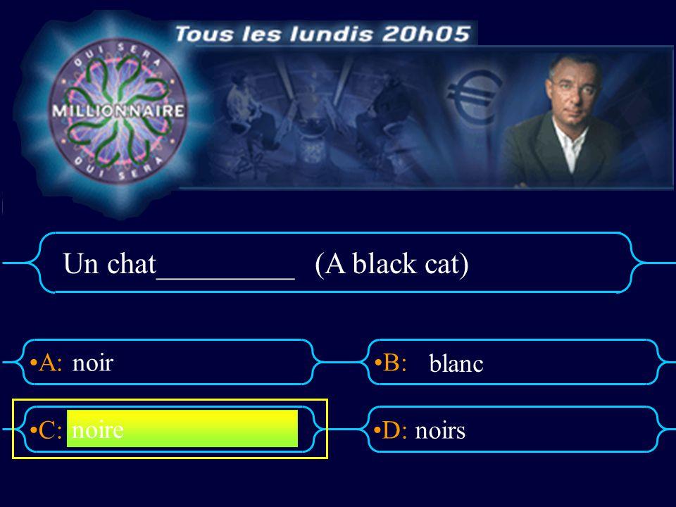A:B: D:C: Qui sera millionaire?! Miss Semple 7 français