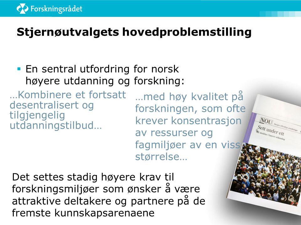 Stjernø-utvalget  Mange gode beskrivelser, analyser og forslag  Problemet med fragmentering knyttes for sterkt til utviklingen av statlige høgskoler  Problemstillingen er relevant men i forhold til fragmentering er dette mer marginalt  Problemet dels selvkorrigerende og dels kan det møtes med målrettede tiltak