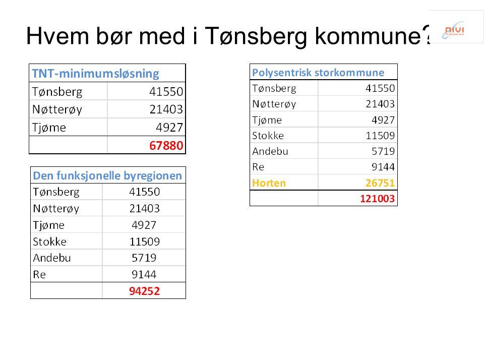 Hvem bør med i Tønsberg kommune ?