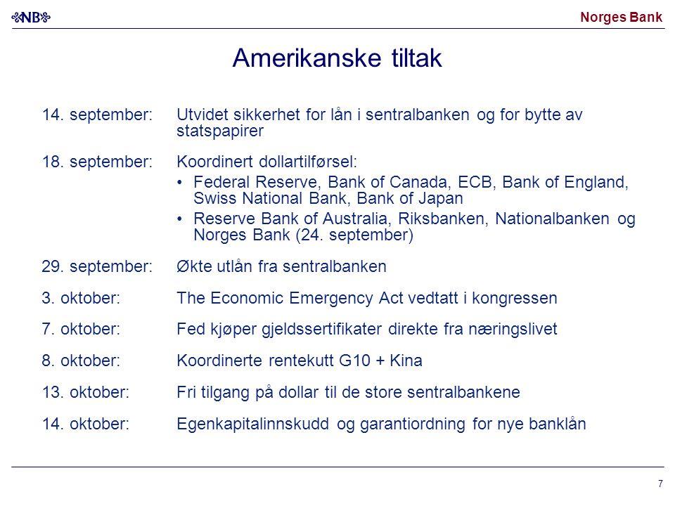 Norges Bank 7 Amerikanske tiltak 14.
