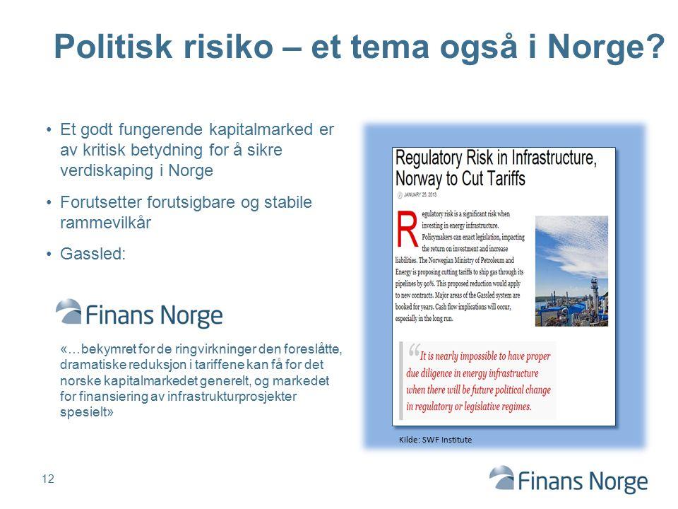 Politisk risiko – et tema også i Norge.