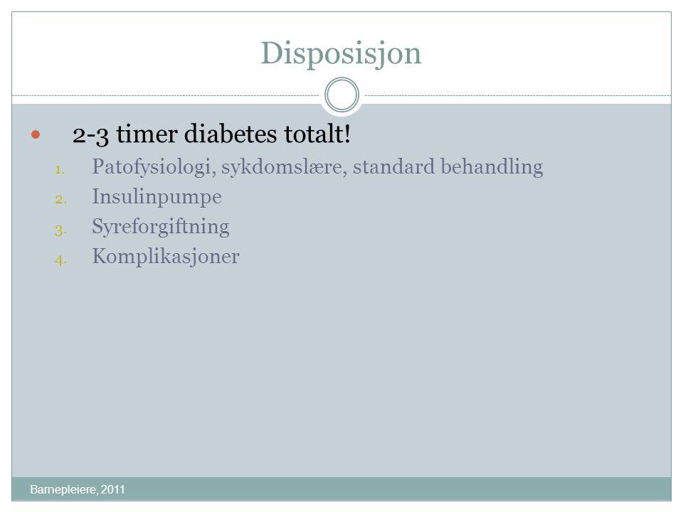 Forsøk på å redusere diabetesrisikoen Barnepleiere, 2011 1.