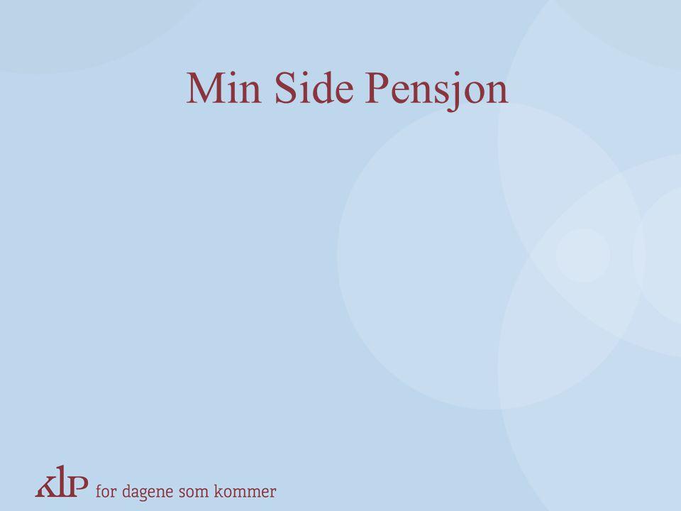 Min Side Pensjon