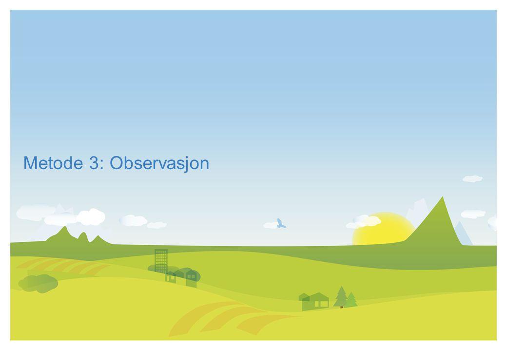 Metode 3: Observasjon