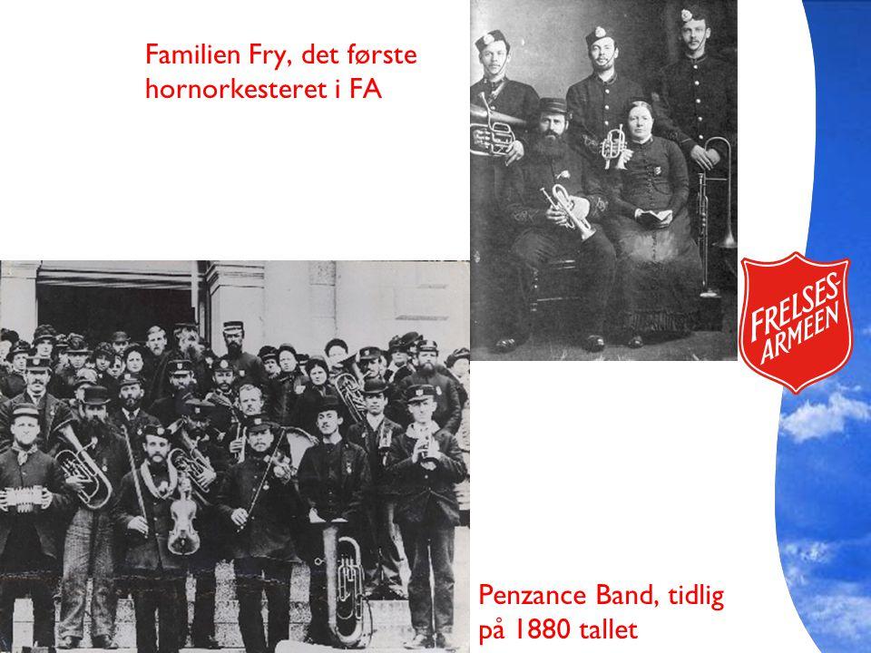 Familien Fry, det første hornorkesteret i FA Penzance Band, tidlig på 1880 tallet
