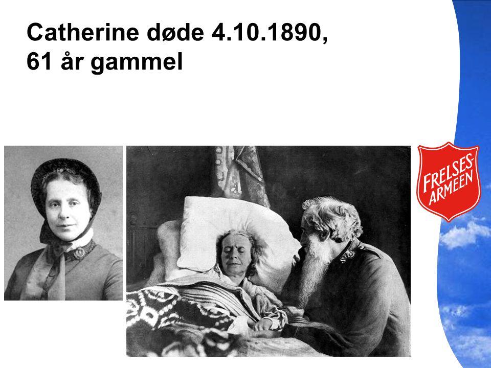 Catherine døde 4.10.1890, 61 år gammel