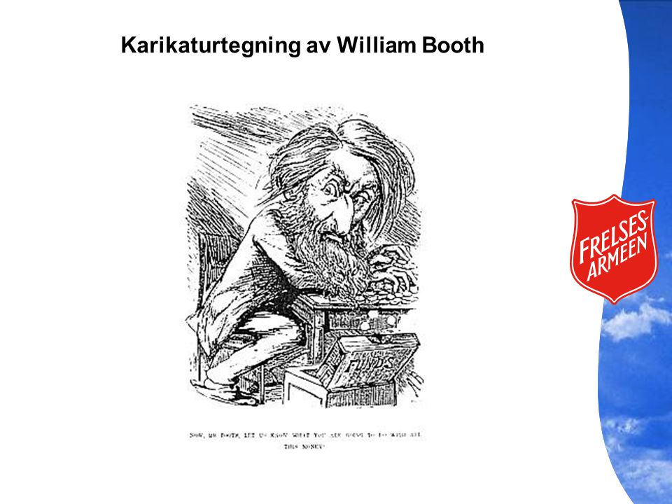Karikaturtegning av William Booth