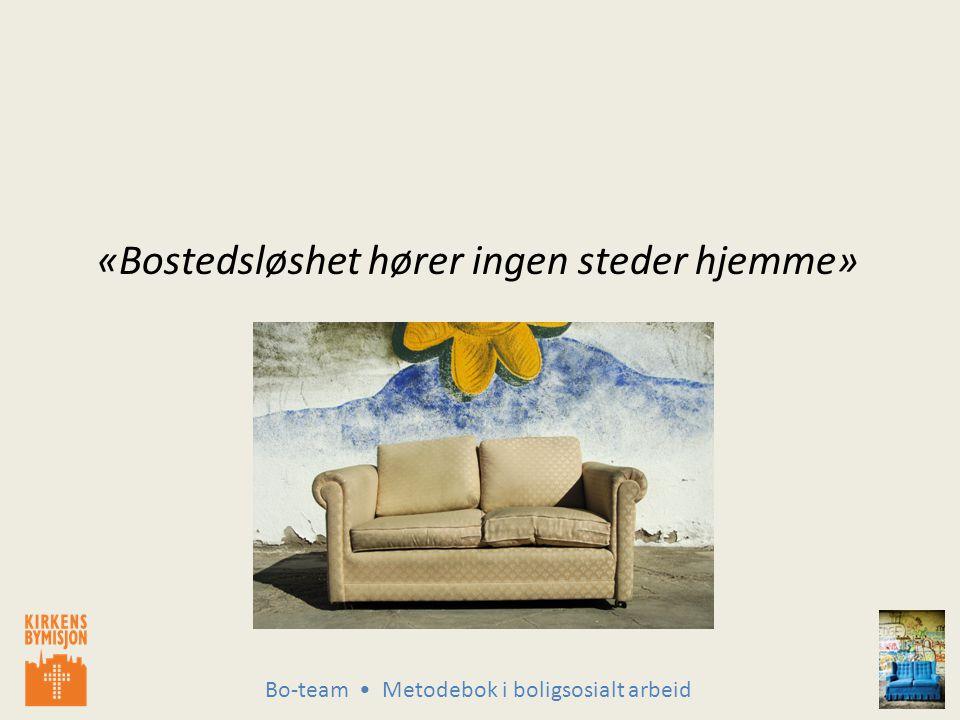 Bo-team Metodebok i boligsosialt arbeid «Bostedsløshet hører ingen steder hjemme»