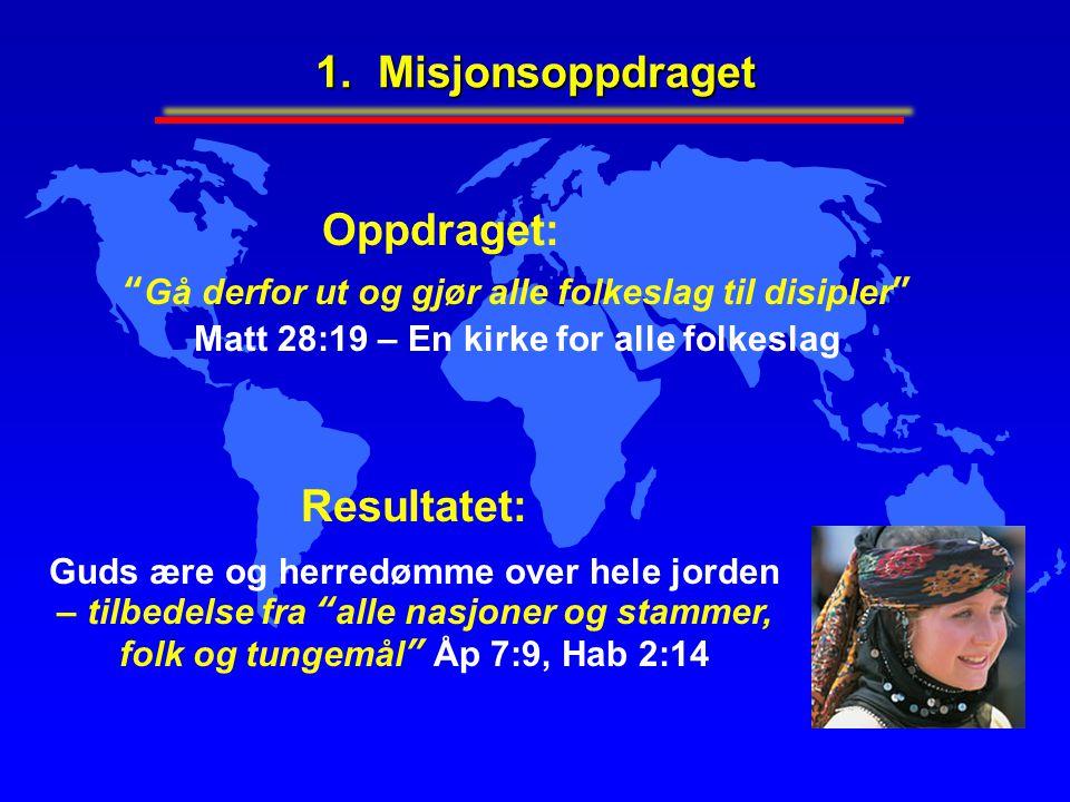 1.Misjonsoppdraget Hvorfor er disippelgjøring av alle folkeslag så viktig.