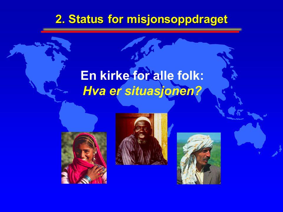 En kirke for alle folk: Hva er situasjonen? 2. Status for misjonsoppdraget