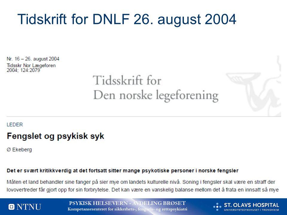 Tidskrift for DNLF 26. august 2004