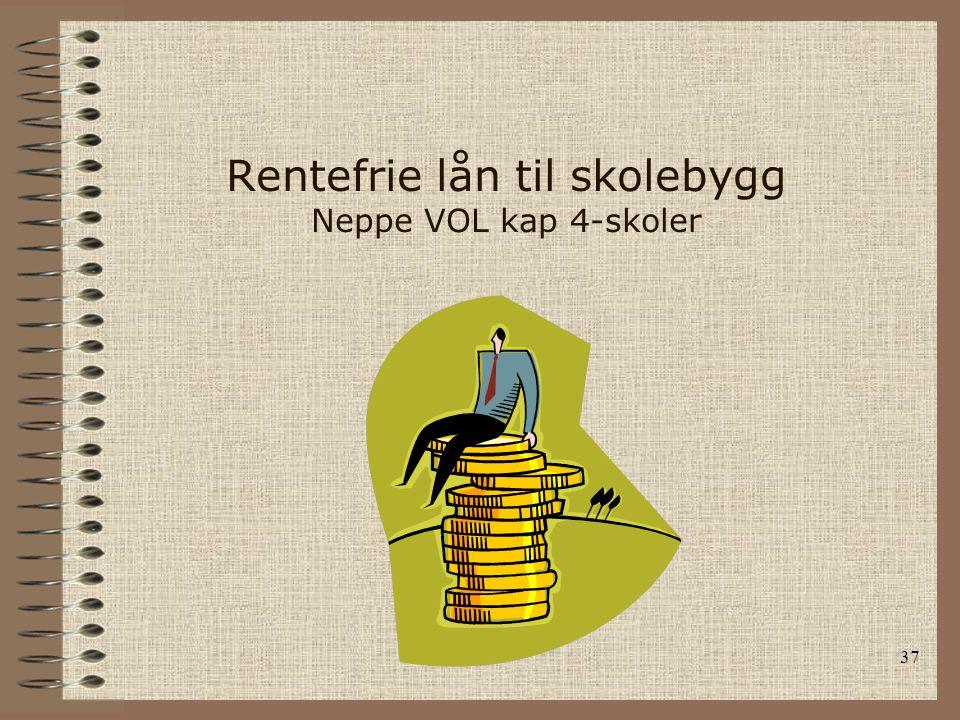 37 Rentefrie lån til skolebygg Neppe VOL kap 4-skoler