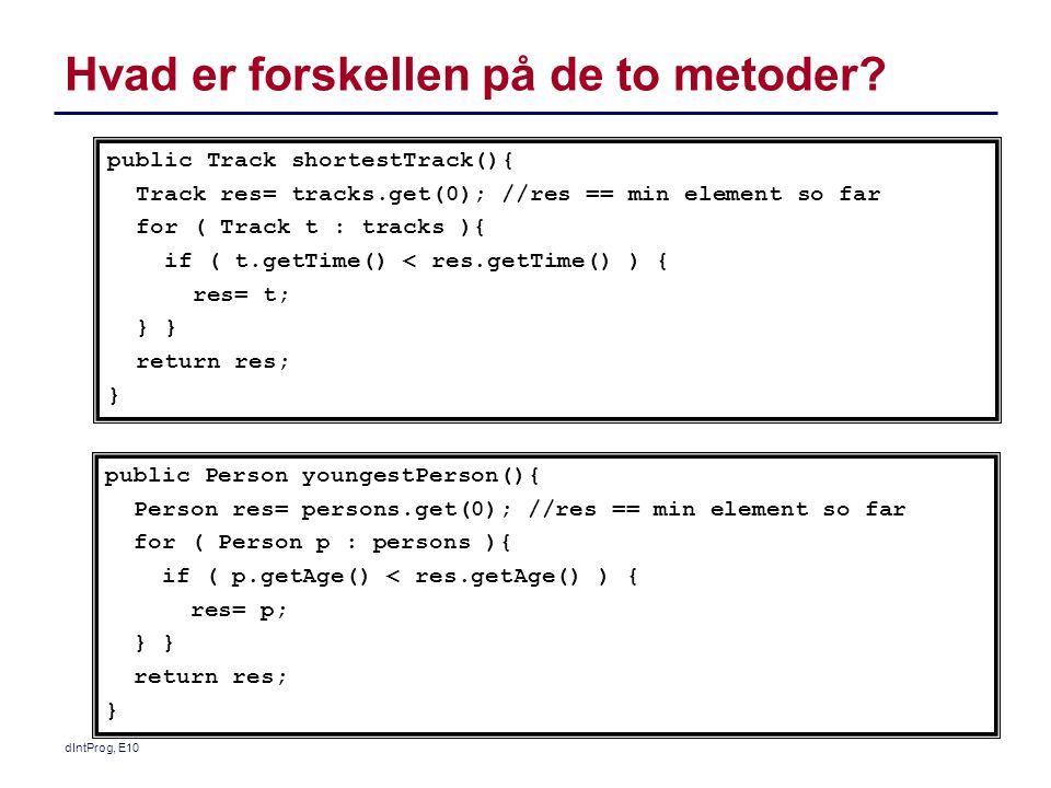 Hvad er forskellen på de to metoder.