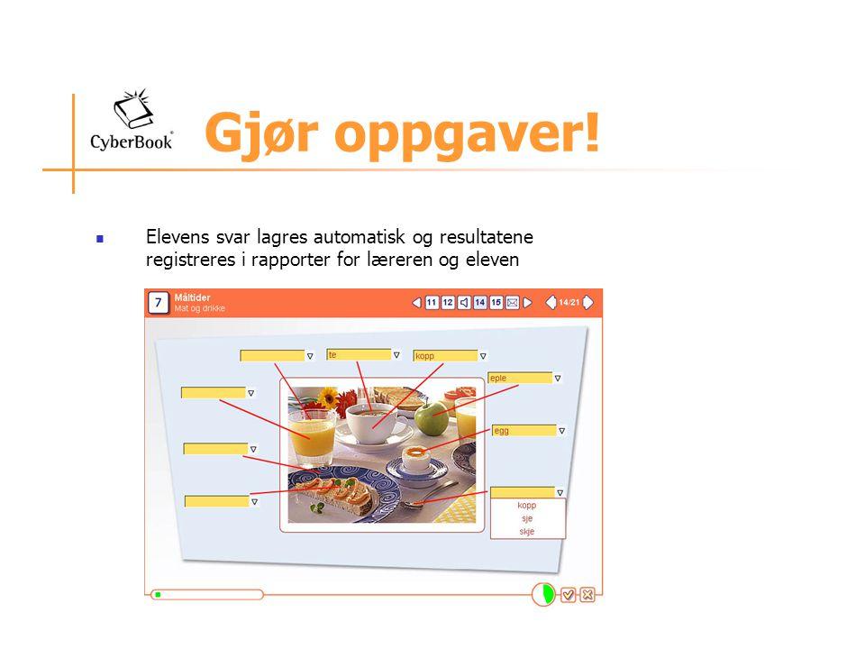 Multimediale oppgaver Eksempel fra NorskPluss Ungdom på noen av oppgavene hvor elevene lærer væruttrykk (A1).