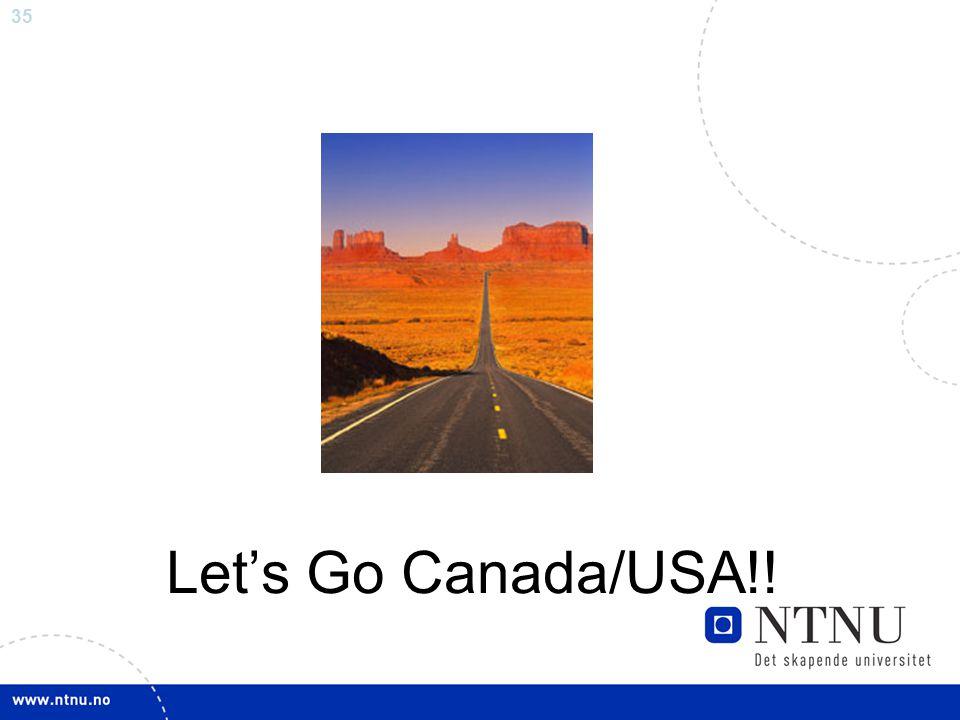 35 Let's Go Canada/USA!!
