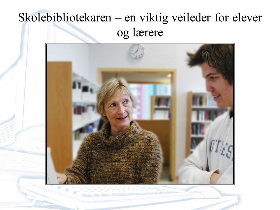 Skolebibliotekaren – en viktig veileder for elever og lærere