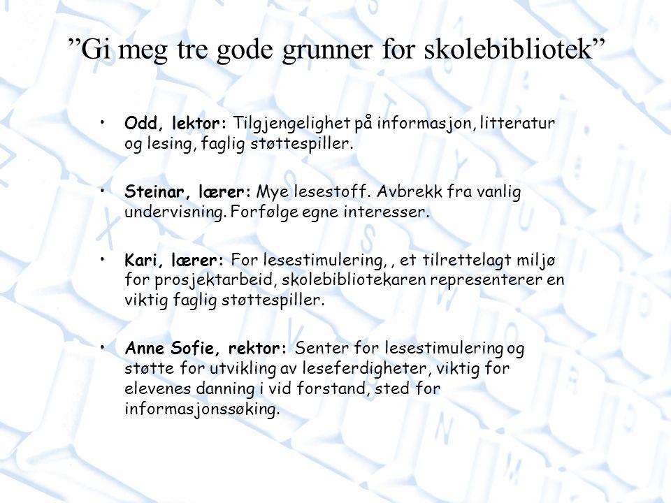 Odd, lektor: Tilgjengelighet på informasjon, litteratur og lesing, faglig støttespiller.