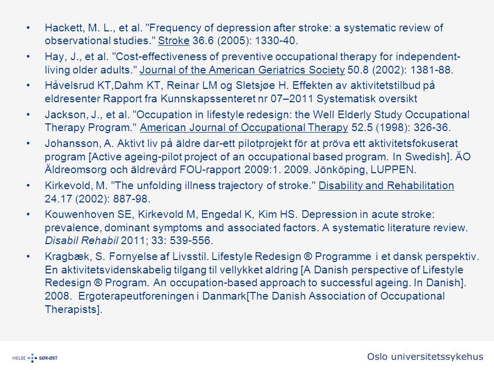 Hackett, M.L., et al.