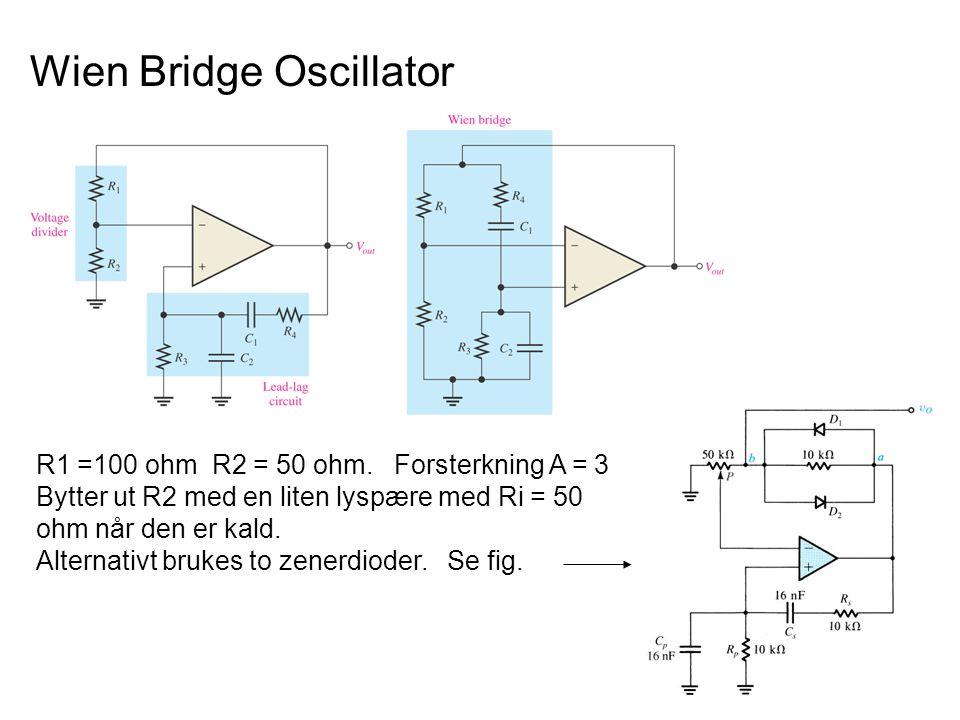 Avstemte oscillatorer Tuned Oscillator Circuits Avstemte oscillatorer bruker en LC-resonanskrets (LC tank) for å frembringe oscillasjon Det finnes flere typer slike avstemte oscillatorer – de vanligste er : Colpitts Resonanskretsen består av en spole og to kondensatorer Hartley resonanskretsen består av en to spoler og en kondensator ColpittsHartley