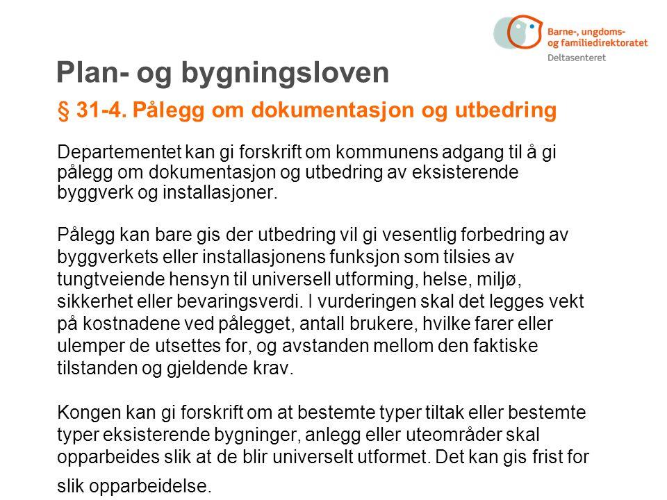 Plan- og bygningsloven § 31-4.