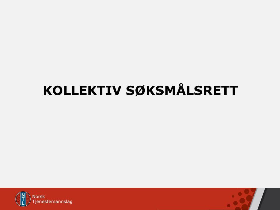 KOLLEKTIV SØKSMÅLSRETT