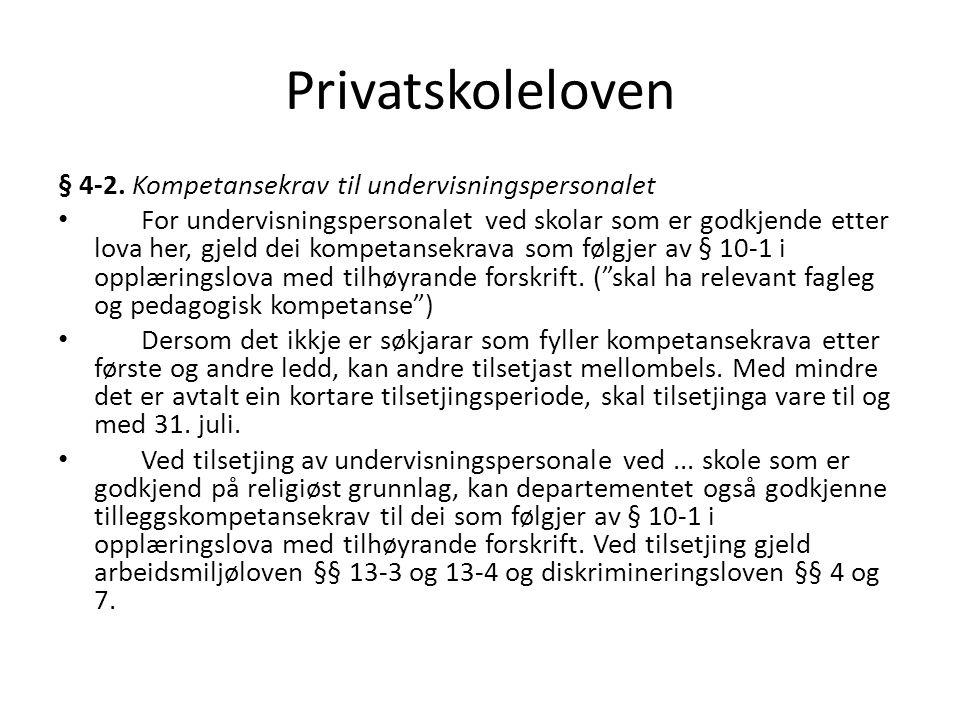 Privatskoleloven § 4-2.