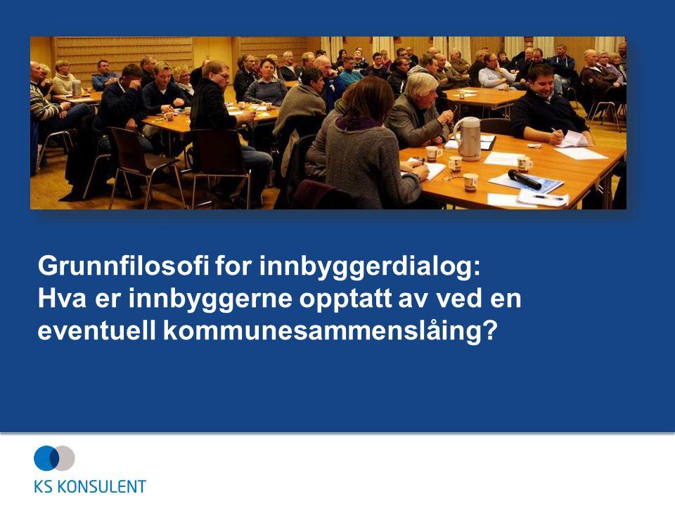 Grunnfilosofi for innbyggerdialog: Hva er innbyggerne opptatt av ved en eventuell kommunesammenslåing?