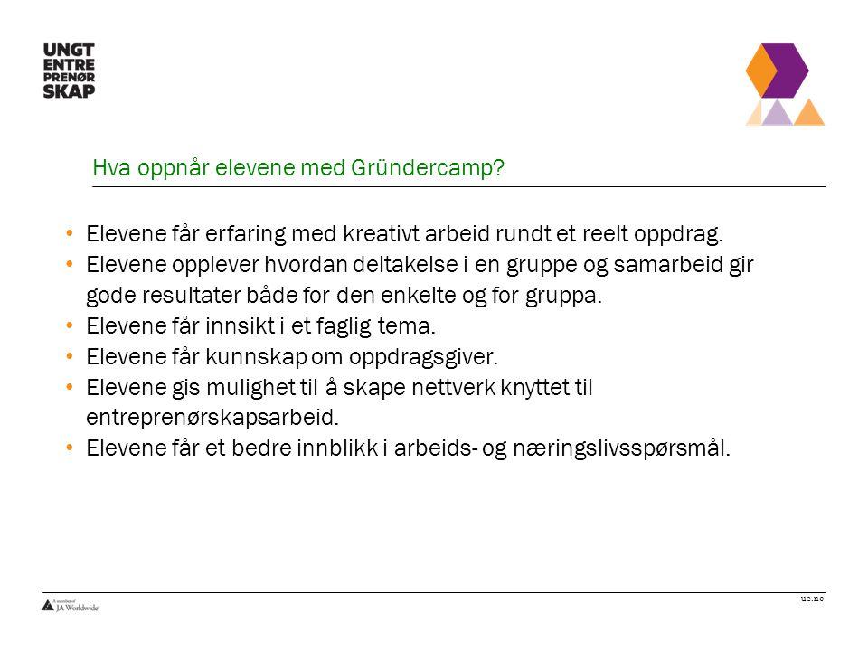 ue.no Hva oppnår elevene med Gründercamp.