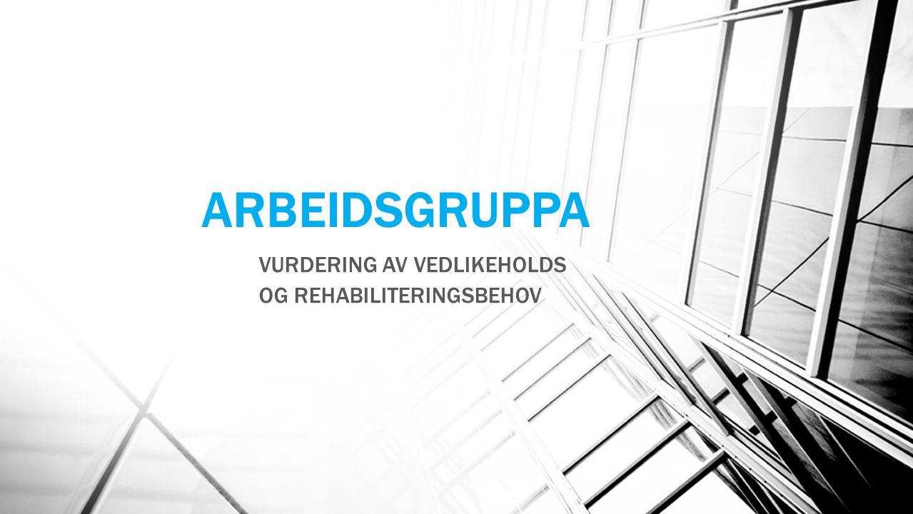 ARBEIDSGRUPPA VURDERING AV VEDLIKEHOLDS OG REHABILITERINGSBEHOV