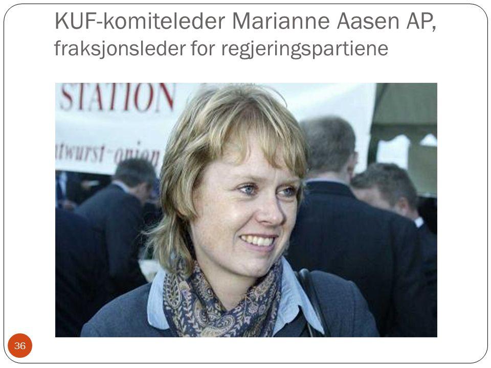 KUF-komiteleder Marianne Aasen AP, fraksjonsleder for regjeringspartiene 36