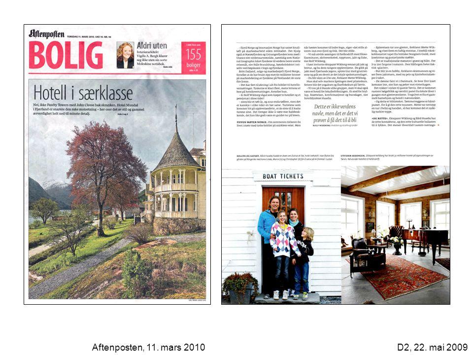 Aftenposten, 11. mars 2010D2, 22. mai 2009