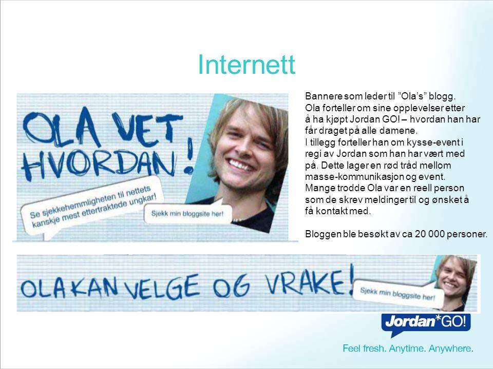 Internett Bannere som leder til Ola's blogg.