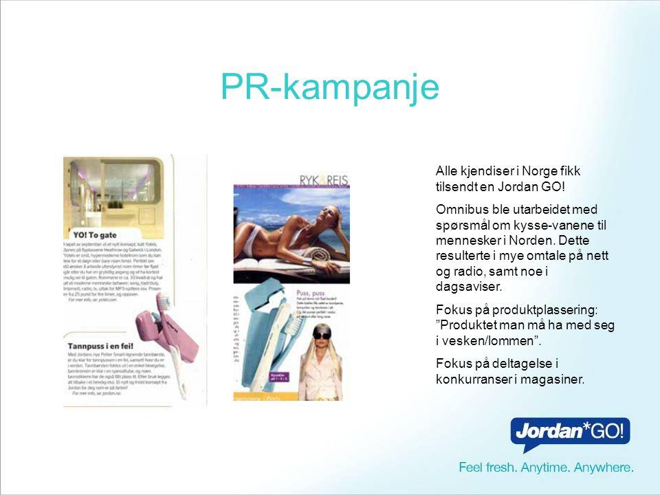 PR-kampanje Alle kjendiser i Norge fikk tilsendt en Jordan GO.