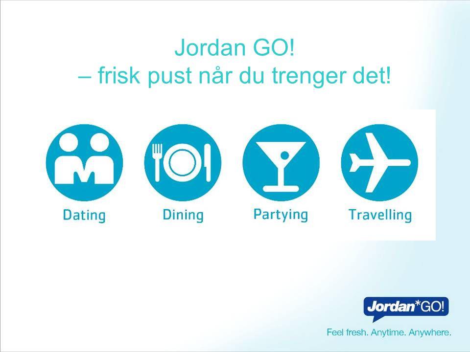 Jordan GO! – frisk pust når du trenger det!