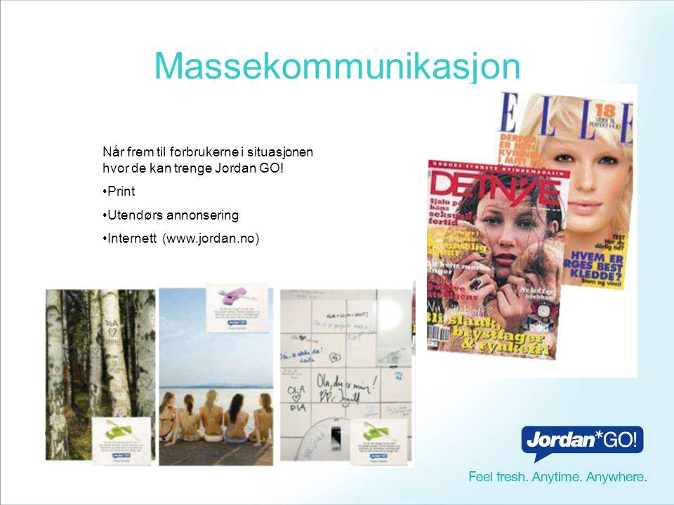 Print og utendørs kommunikasjon Budskap basert på en ung målgruppe (15-30 år).