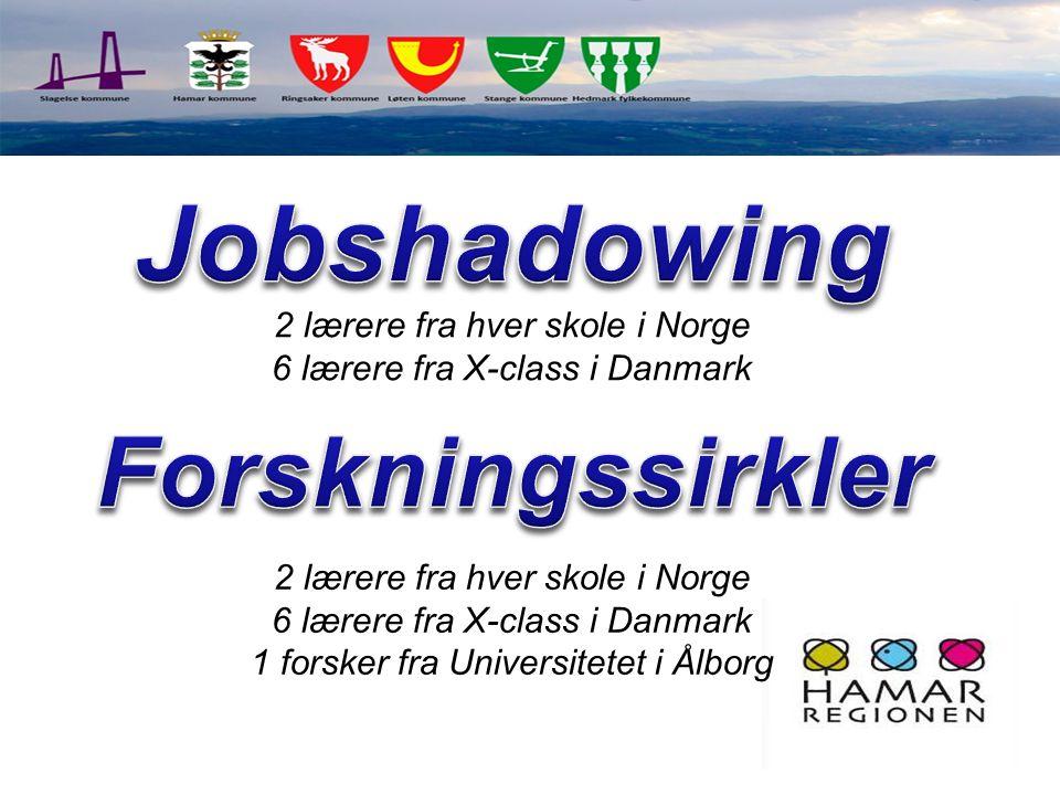 2 lærere fra hver skole i Norge 6 lærere fra X-class i Danmark 2 lærere fra hver skole i Norge 6 lærere fra X-class i Danmark 1 forsker fra Universite