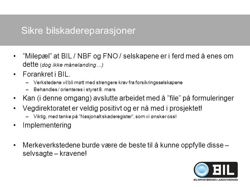 """""""Milepæl"""" at BIL / NBF og FNO / selskapene er i ferd med å enes om dette (dog ikke månelanding…) Forankret i BIL. –Verkstedene vil bli møtt med streng"""