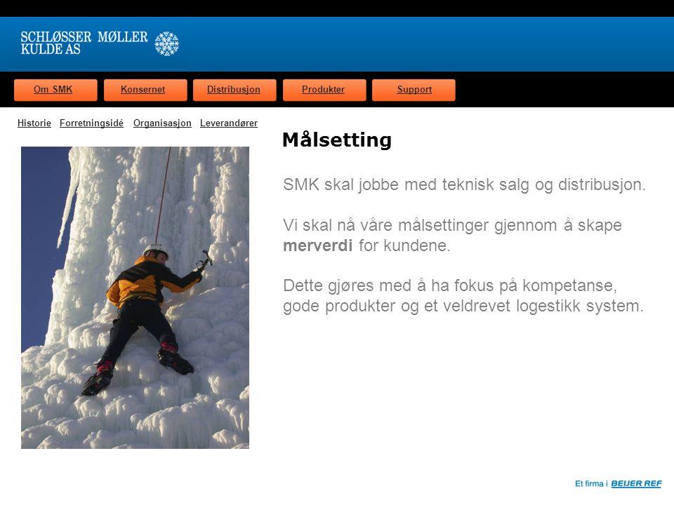 Om SMKKonsernetDistribusjonProdukterSupport Organisasjon Schløsser Møller Kulde AS omsetter for ca.