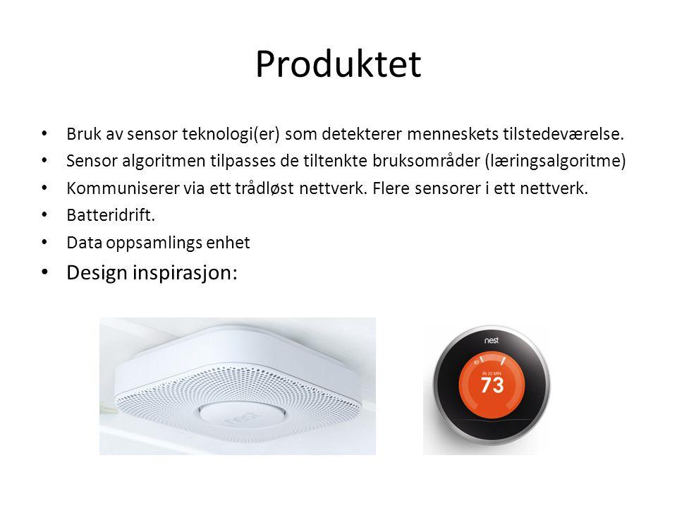 Produktet Bruk av sensor teknologi(er) som detekterer menneskets tilstedeværelse.