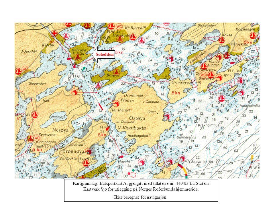Solodden Kartgrunnlag: Båtsportkart A, gjengitt med tillatelse nr.