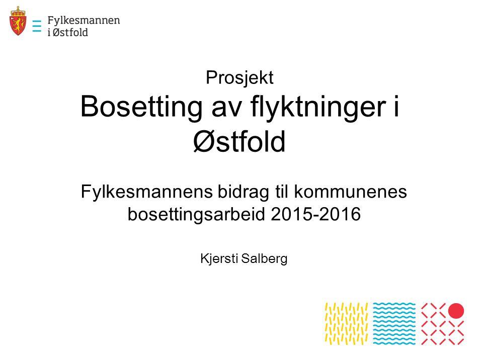 Prosjekt Bosetting av flyktninger i Østfold Fylkesmannens bidrag til kommunenes bosettingsarbeid 2015-2016 Kjersti Salberg