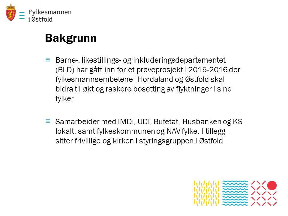 Bakgrunn ≡ Barne-, likestillings- og inkluderingsdepartementet (BLD) har gått inn for et prøveprosjekt i 2015-2016 der fylkesmannsembetene i Hordaland